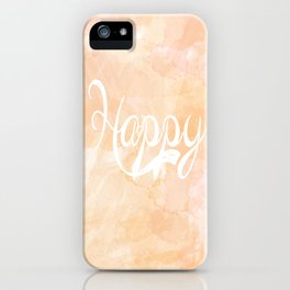 Watercolor Happy iPhone Case