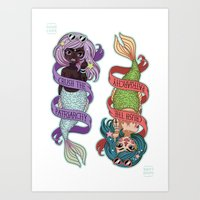 patriarchy Art Prints featuring ♀ Crush the patriarchy ♀ by ♡ SUSHICORE ♡