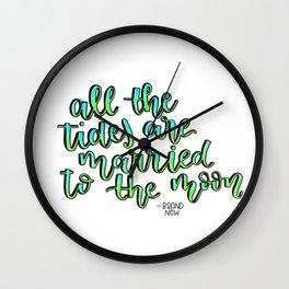 Brand New Band Lyrics Calligraphy Quote Wall Clock