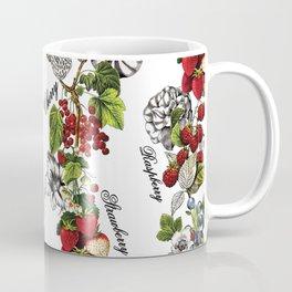Botanical Fruit Print Coffee Mug