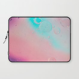 Oil drops in water. Defocused abstract psychedelic pattern image pastel colored. Abstract background with colorful gradient colors. Laptop Sleeve