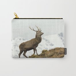 Red Deer Stag in Winter Carry-All Pouch