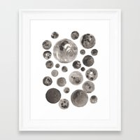 planets Framed Art Prints featuring Planets by Dreamy Me