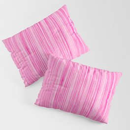 Luscious Lollypop Pink Striped Candy Design Pillow Sham