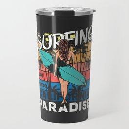 Paradise Surfing Travel Mug