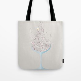 Glass Of Pink Bubbles Tote Bag