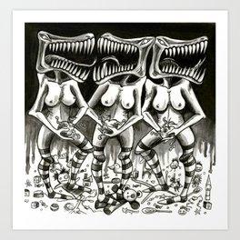 Hormonal Horror  Art Print