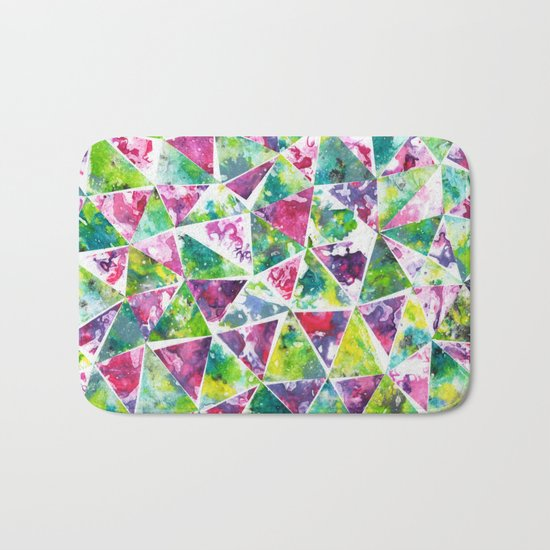 COLLAGE LOVE: Funky Triangles Bath Mat