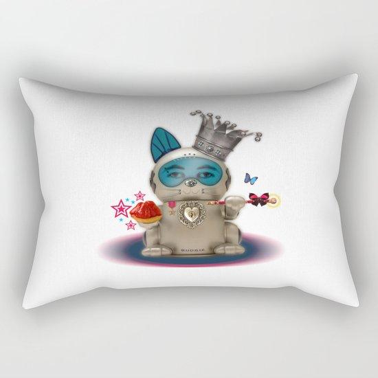 B.U.D.G.I.E. (Biomechanical Unit Designed for Galactic Infiltration and Exploration) Rectangular Pillow