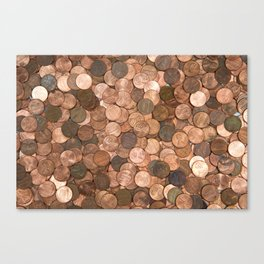 Pennies for your thoughts Canvas Print