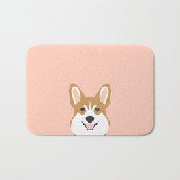 Shelby - Welsh Corgi gifts with corgi illustration for dog people and corgi owner gifts dog gifts Bath Mat
