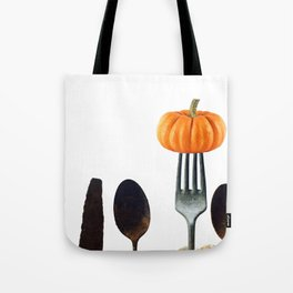 Eat Healthy with Pumpkin Tote Bag