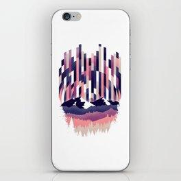 Sunrise in Vertical - Winter Purple iPhone Skin