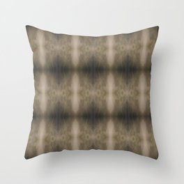 Blowing snow abstract Throw Pillow