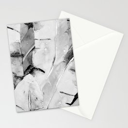 Banana Tree Leaves | Watercolor Black and White Stationery Cards
