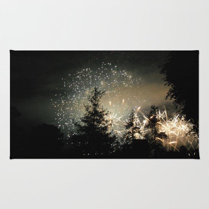Forest Fireworks. © S. Montague. Rug
