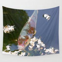 koi Wall Tapestries featuring Koi by WonderfulDreamPicture