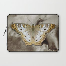 Yellow White Butterfly Modern Country Modern Cottage Chic A495 Laptop Sleeve