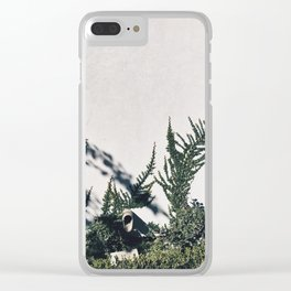 Floral White Wall Clear iPhone Case