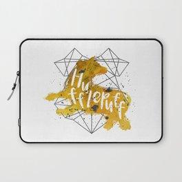 Hufflepuff Black Splatter Laptop Sleeve