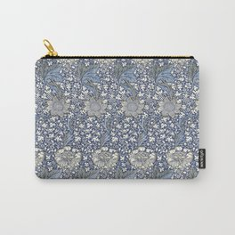 William Morris Navy Blue Botanical Pattern 7 Carry-All Pouch