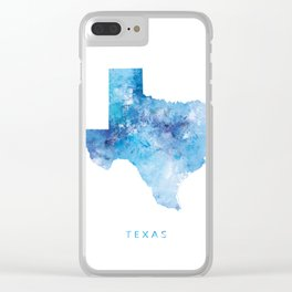 Texas Map Clear iPhone Case