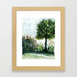 A Lovely Day, Abstract Landscape Art Framed Art Print