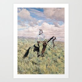 The Unknown Rider in Death Rides The Pecos Art Print