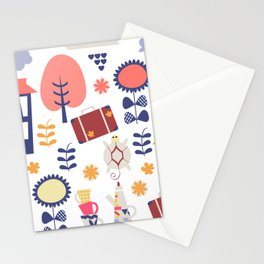 Trave patter 4gf Stationery Cards