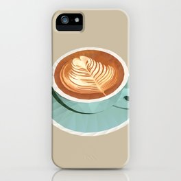 Coffee with Latte Art Polygon Art iPhone Case