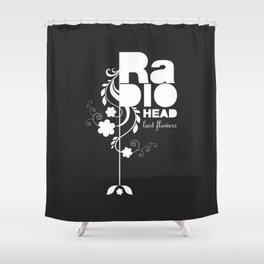 Radiohead song - Last flowers illustration white Shower Curtain