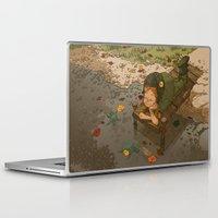 bouletcorp Laptop & iPad Skins featuring La rivière aux tortues by Bouletcorp