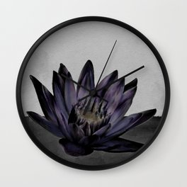 Black Lotus Watercolor Digital Art 4 Wall Clock