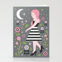 dress Stationery Cards featuring Monochrome Dress by Carly Watts