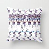 skeleton Throw Pillows featuring Skeleton by Ali GULEC
