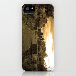sepia cottage iPhone Case