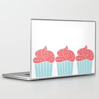 cupcake Laptop & iPad Skins featuring Cupcake by Elaine Stephenson Art