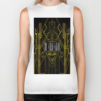 the great gatsby Biker Tanks featuring The Great Gatsby by Ronoh Designs