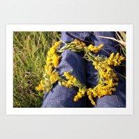 Wildflower Chains Art Print