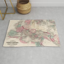 Vintage Map of The Roman Empire (1870) Rug