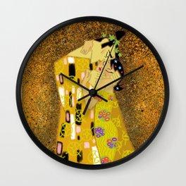 The Samurai Kiss Wall Clock