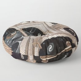 Escher - Another World II Floor Pillow