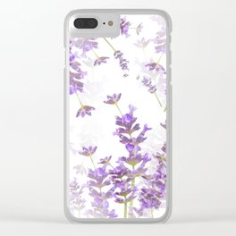 Lavender Bouquets On White Background #decor #society6 #buyart Clear iPhone Case