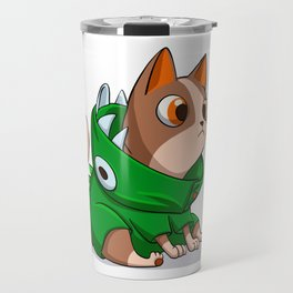 Cat dinosaur costume Travel Mug