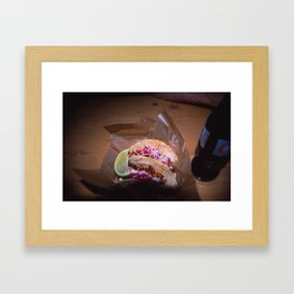 Gourmet Food Truck Tacos  Framed Art Print