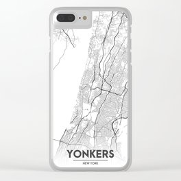 Minimal City Maps - Map Of Yonkers, New York, United States Clear iPhone Case