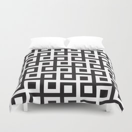 Geometric Pattern #33 (square loop) Duvet Cover