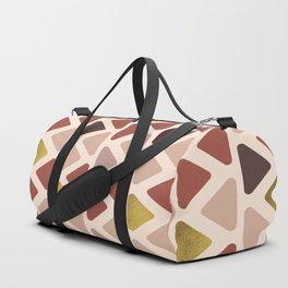 Soft Triangles - Warm gold Duffle Bag