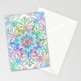 Nature Mandala in Rainbow Hues Stationery Cards