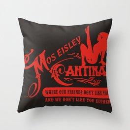 Mos Eisley Cantina  Throw Pillow